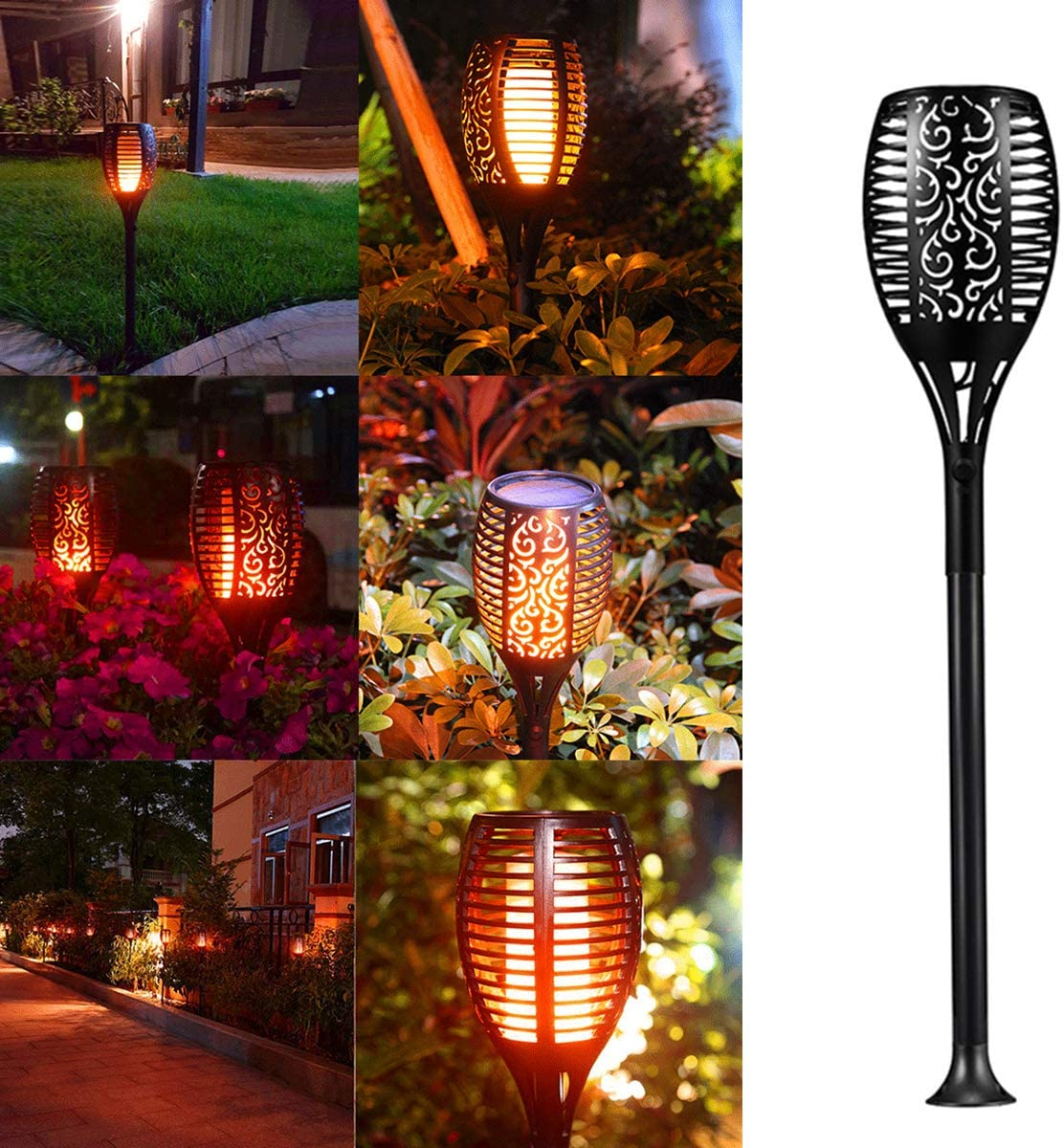 FAMKIT 1pcs Solar Torch Light Outdoor wholesale 96 Torches 5% OFF Led Tiki with