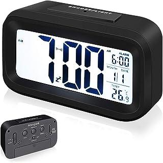 Arespark Despertador Digital, Reloj Alarma Electrónico con Luz de Noche, Pantalla LCD de 5.3 Pulgadas con Hora Fecha Tempe...