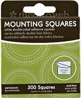 Thermoweb Mounting Squares 500/Pkg, White, 1/2-Inch
