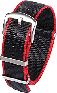 PBCODE Seat Belt Nylon NATO Strap Heavy Duty Military G10 Watch Band Replacement Watch Straps 18mm 20mm 22mm 24mm