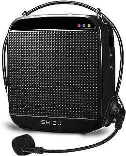 Amplificateur de voix, SHIDU amplificateur de voix avec micro-casque filaire Haut-parleur de sonorisation 15W, support de ...