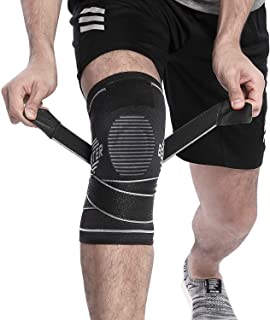 BERTER Knee Brace for Men Women - Compression Sleeve Non-Slip for Running, Hiking, Soccer, Basketball for Meniscus Tear Arthritis ACL Single Wrap