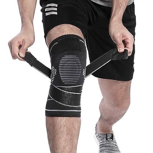 4781a79e8f BERTER Knee Brace Men Women - Compression Sleeve Non-Slip Running, Hiking,  Soccer