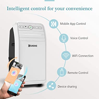 Ukoke USPC01W Smart WiFi Portable Air Conditioner, Works with Alexa & Mobile App Control, 12000BTU, 4 in 1 AC Unit with C
