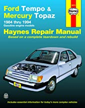 Ford Tempo & Mercury Topaz 2WD Gas Engine Models (84-94) Haynes Repair Manual (Does not include information specific to diesel engines. Includes ... exclusion noted) (Haynes Repair Manuals)
