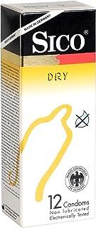 SICO Dry condones - sin recubrimiento - látex de caucho natural - embalado individualmente en una caja - 3 piezas - Made in Germany