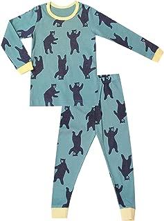 OllCHAENGi Little Boys Girls Kids Cotton Pajama Sleepwear Set Long Sleeve 18M-12Y Navy Bear