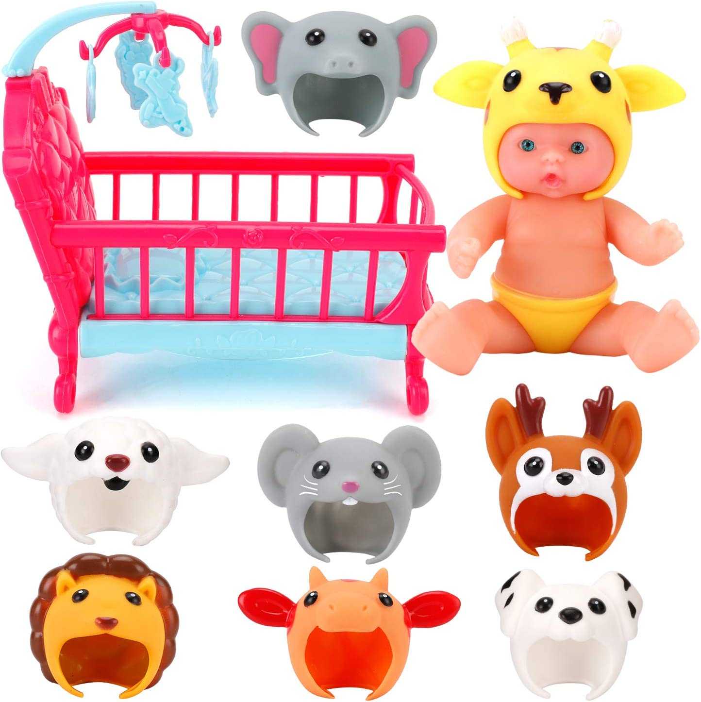 National uniform free shipping Liberty Imports 7-inch My Sweet Mini Baby Doll Animal Max 55% OFF Frien with