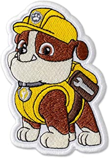 PAW Patrol Rubble Embroidered Patch Iron On (2.9