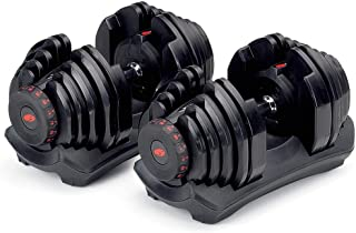 Bowflex SelectTech 1090 Adjustable Workout Exercise Dumbbell Weights for Strength Training at Home or Gym (2 Pack)