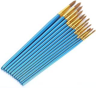 Beginner Paint Brush, Nylon Wool Brushes, Artist Brushes Set, Strong Wooden Penholder for Professionals Students