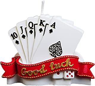 ILIKEPAR Birthday Candles Good Luck Poker Creative Cake Candles Father's Day Send Father Boyfriend Husband Gift Cake Toppers