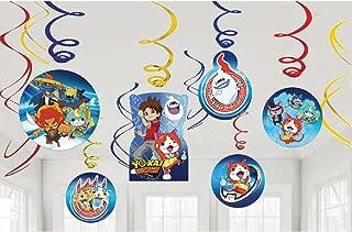 amscan International 671740 Yokai Swirl Decorations