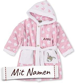 Dalmatiner Und Personalisiert Name Bestickt Auf Handtuch Bademäntel Kapuzen