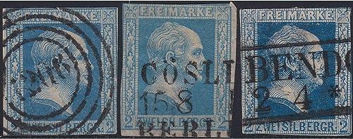 Goldhahn Preu  Nr. 7a,7b+7c gestempelt Briefürken für Sammler