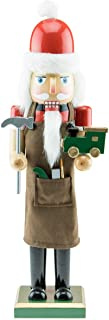 Clever Creations Toy Maker Santa 15 Inch Traditional Wooden Nutcracker, Festive Christmas Décor for Shelves and Tables