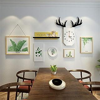 LONGWDS Marco de fotos Nordic Foto Colgando de imagen de fondo creativo estante de la pared pintura decorativa Combinación...