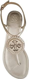 Tory Burch Miller 2 Fringe Flat Sandal, Metallic Veg Nappa, Platinum
