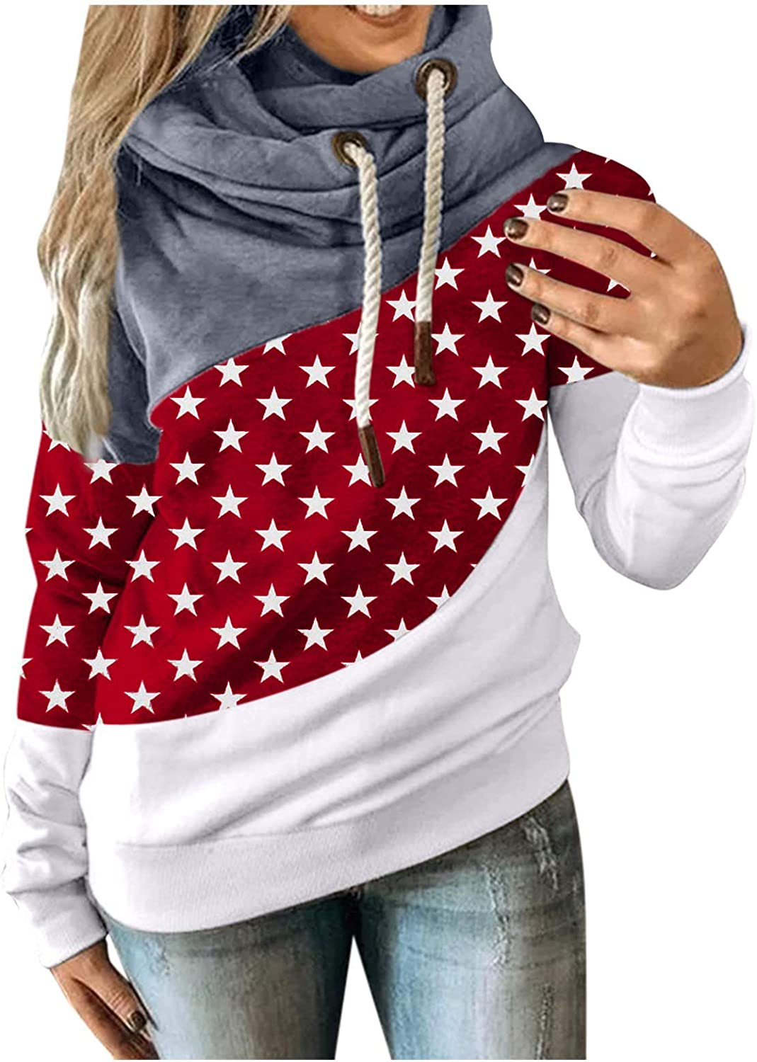 Hotkey Women Autumn Winter Hoodies Printing Color Courier shipping free shipping 5% OFF Stars Contrast