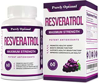 Premium Resveratrol Supplement 1500mg - Max Strength Potent Antioxidant, Trans Resveratrol Capsules for Heart Health, Anti...