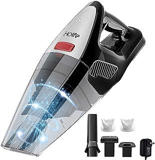 HoLife Aspiradora de mano, 8 kpa, sin cable, recargable, de mano, de 22,2 V, de litio, 100 W, más fuerte, recargable, ligera y seca en húmedo, para el hogar, mascota, limpieza de pelo de coche