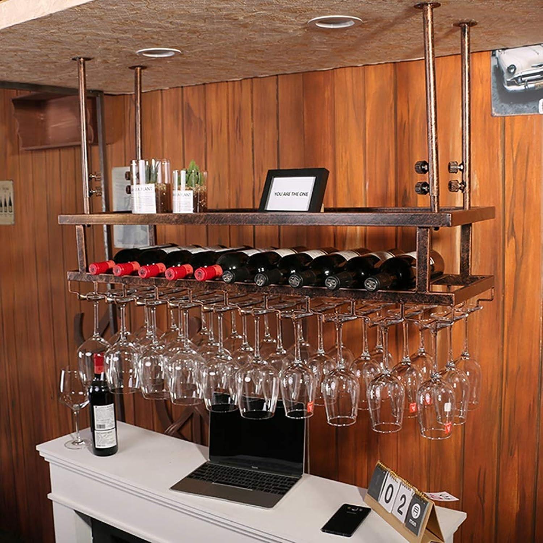 diseñador en linea JTWJ Estante para vinos Barra para Colgar Colgar Colgar Estante para Copas de Vino Estante para Copas Creativo Estante Moderno para Copas de Vino al revés (Color   Bronce, Tamaño   60  30  12cm)  ofreciendo 100%