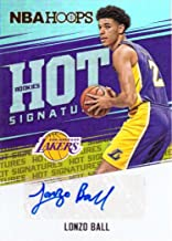 2017-18 Panini NBA Hoops Hot Signatures Rookies #HSR-LB Lonzo Ball Certified Autograph Basketball Card