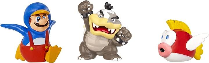 Nintendo Mario Bros U Micro Figure (3-Pack : Morton Koopa/Penguin Mario/Cheep Cheep)