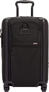 Alpha 3 Expandable International 4 Wheeled Carry-On Luggage - 22 Inch Rolling Suitcase for Men and Women - Black