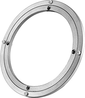 Lazy Susan Heavy Duty Aluminium Rotating Turntable Bearing Round Swivel Plate Hardware for Kitchen Dining-Table (10inch)