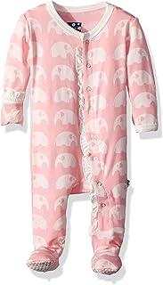 Kickee Pants Baby Girls' Essentials Print Muffin Ruffle Footie