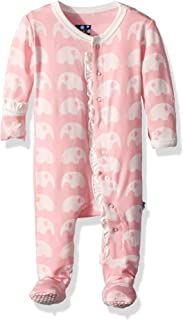 Baby Girls' Essentials Print Muffin Ruffle Footie