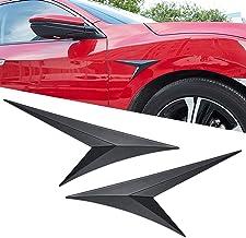 WINKA Fender Flanks Decorative Stickers, Blade Side Standard Shark Gill for Honda Civic 2016 2017 2018 2019 2020 Black