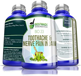 Sponsored Ad - Toothache & Nerve Pain in Jaw Bio23, 300 pellets, for Relief of Trigeminal Neuralagia Associated Muscle Spa...