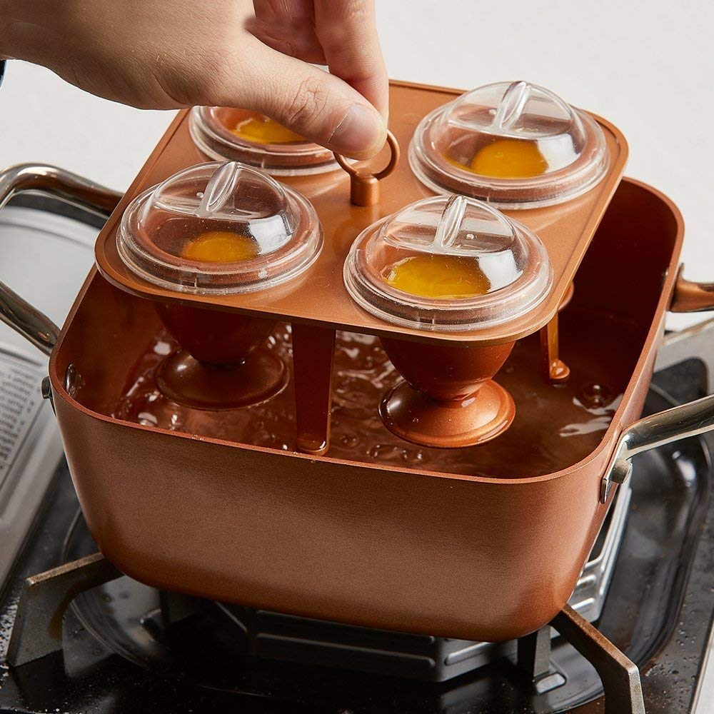 Copper Chef Copper Eggs XL Non Stick Coating 4 XL Makers Buy More You Save NEW