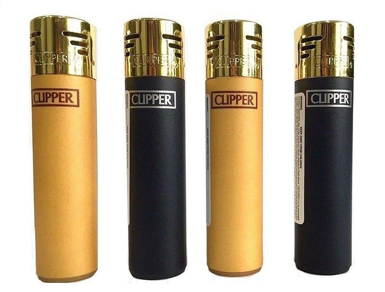 Clipper - Juego de 2 mecheros electrónicos de Goma, Color Negro y ...