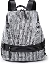 Kenoor Women's Backpack Casual Daypack Travel Bag Large Capacity Fashion Double Shoulder (Grey)
