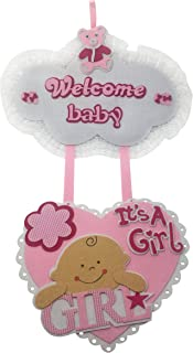 Welcome Baby It's A Girl Hospital Door Hanger