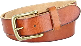 Full Grain Classic Oil-tanned Genuine Leather Casual Jean Belt for Women