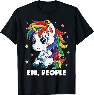 Unicorn Ew People T shirt Girls Kids Funny Rainbow Unicorns T-Shirt