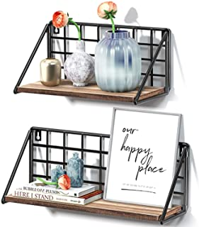 STOREMIC Floating Shelves 40cm Rustic Shelf for Wall, Easy to install and Sturdy Wall Shelves Set of 2, Room Decor for Bed...