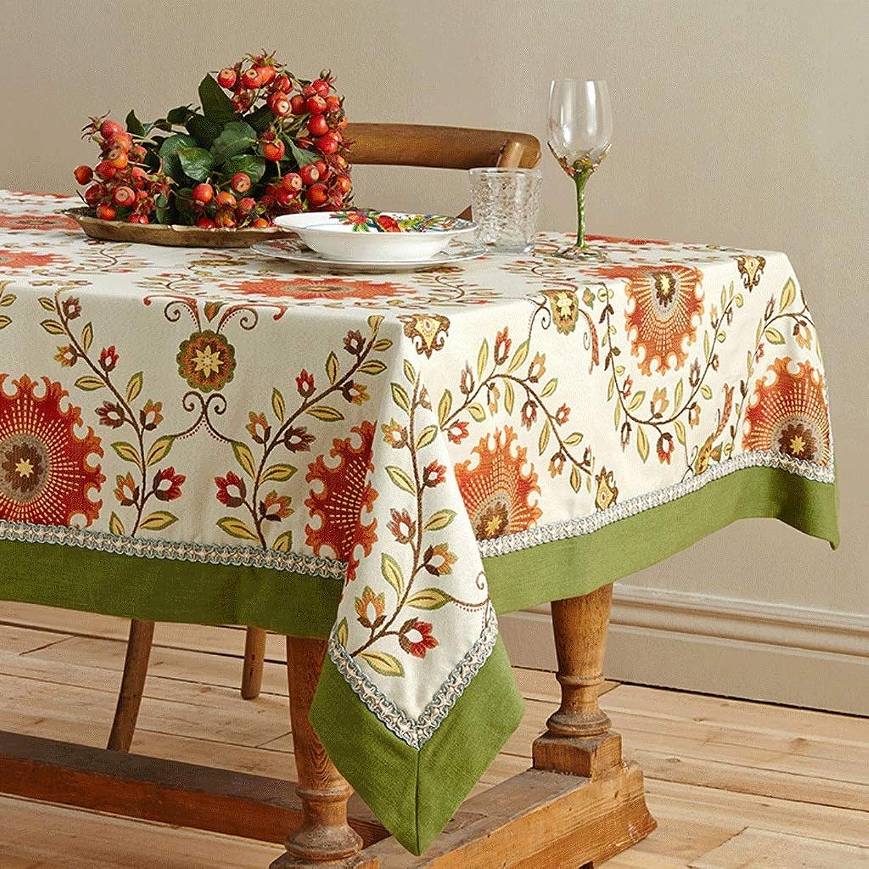marcas de diseñadores baratos Duanguoyan Mantel- Estera de de de Mesa idílica Estera de Mesa de café de caléndula de caléndula (Color   rojo Earth, Talla   130X180cm)  encuentra tu favorito aquí