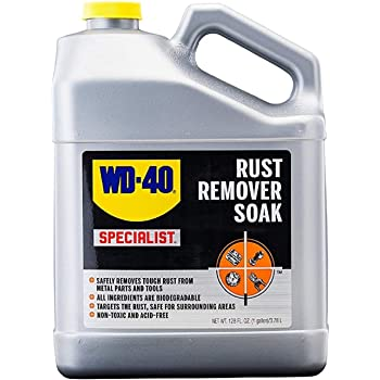 WD-40 - GID-156724 Specialist Rust Remover Soak - Fast Acting Rust Dissolver. 1 Gallon (Pack of 1)