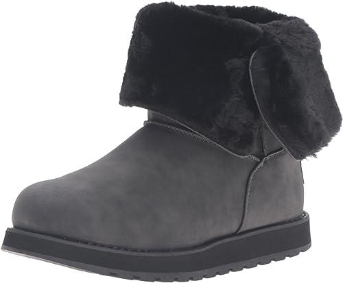Skechers Keepsakes Leatherette Mid Mid Button, Desert bottes Femme  qualité pas cher et top