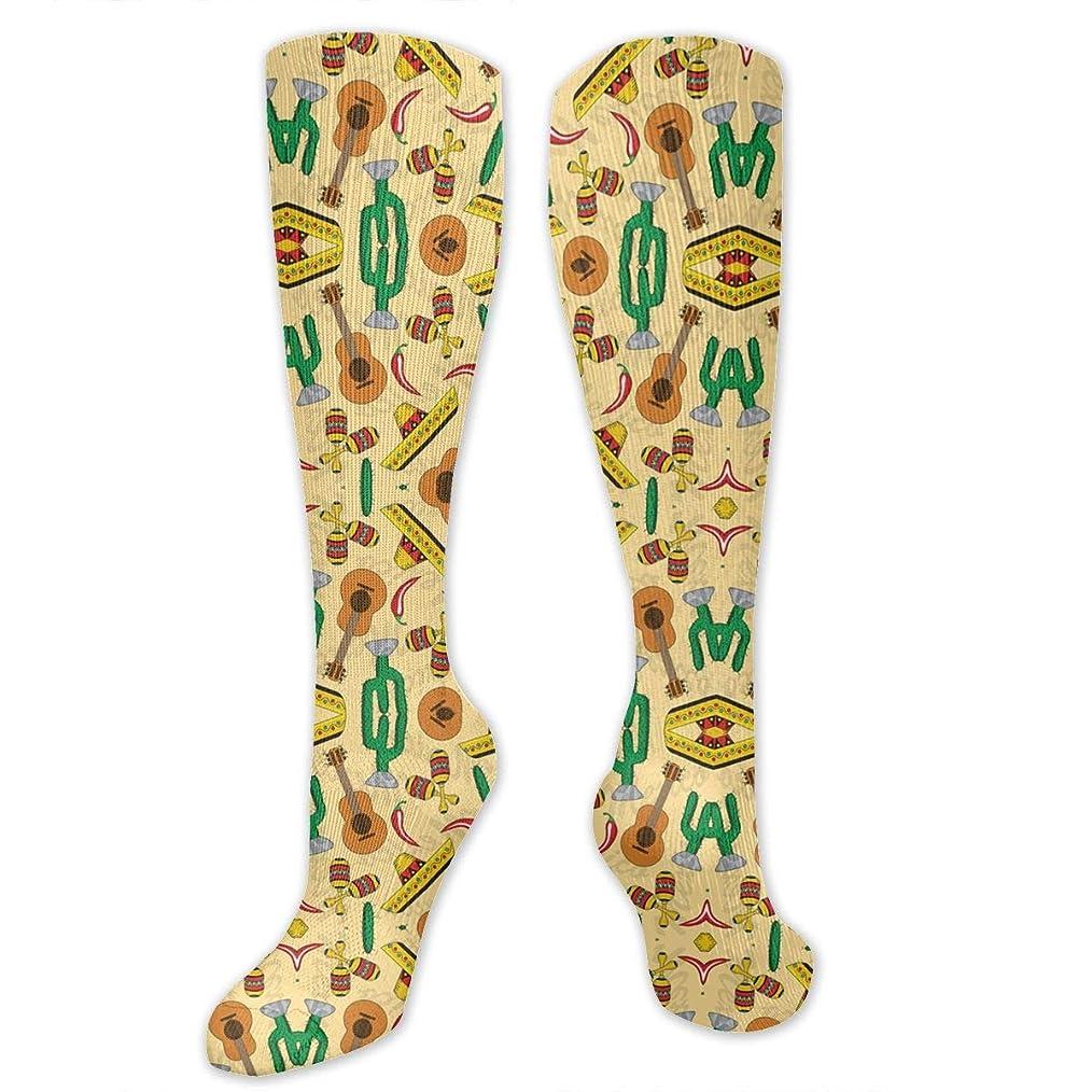 人気の湖取り消す靴下,ストッキング,野生のジョーカー,実際,秋の本質,冬必須,サマーウェア&RBXAA Women's Winter Cotton Long Tube Socks Knee High Graduated Compression Socks Cinco De Mayo Socks