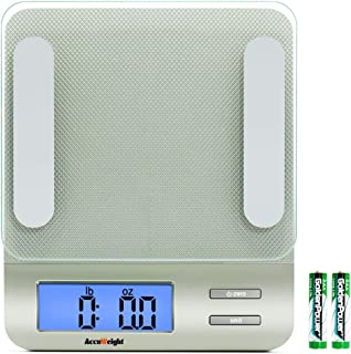 Accuweight 207 Digital Kitchen Multifunction Food Scale for Cooking with Large Back-lit..