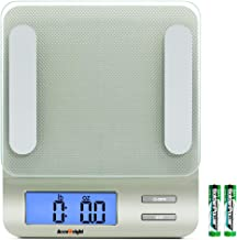 Accuweight 207 Digital Kitchen Multifunction Food Scale for Cooking with Large Back-lit LCD Display,Easy to Clean with Pre...