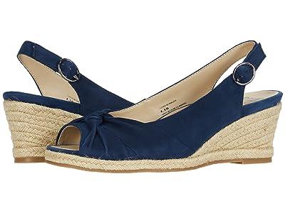 Earth Thara Bermuda (Navy Blue Silky Suede) High Heels