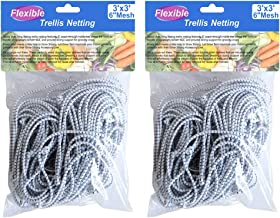 BloomGrow 2PCS 3FTx3FT Heavy-Duty Flexible Elastic Trellis Netting Trellis Net Plant Support Net for Grow Tents Support for Climbing, Fruits, Vegetables and Flower (2 PCS)