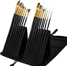 Mont Marte 15pce Art Paint Brushes Set for Watercolour, Acrylic, Oil